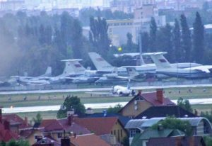 Аварийная посадка самолета в Киеве
