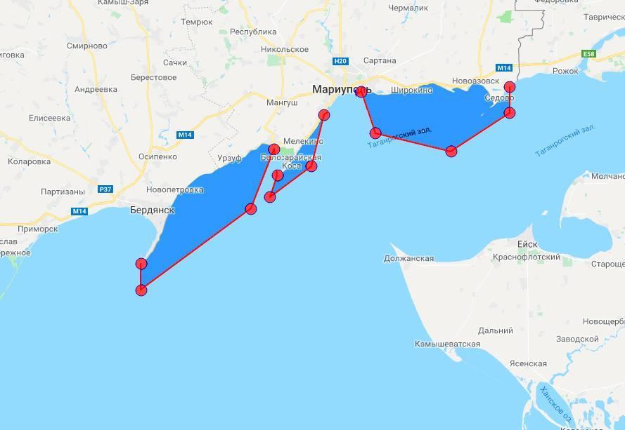 Часть азовского моря закрыта до сентября