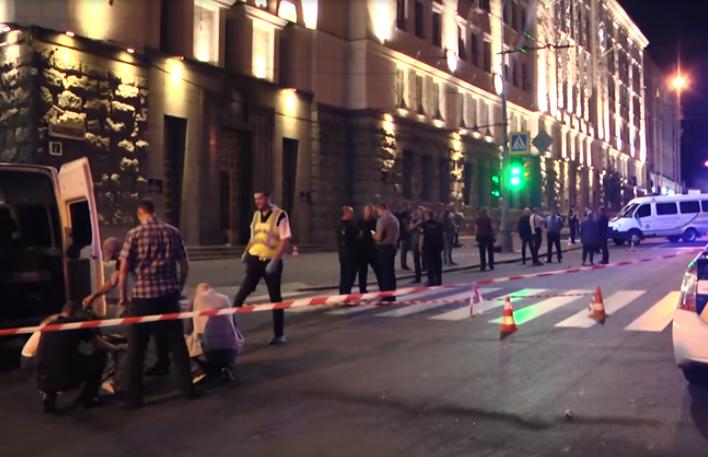 Ночное нападение на мэрию Харькова