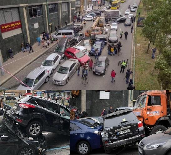21 автомобиль столкнулся в Киеве