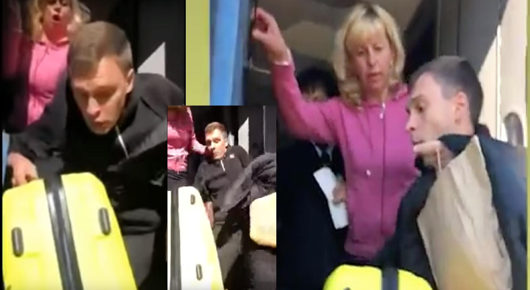 пассажира вытолкали из поезда на ходу