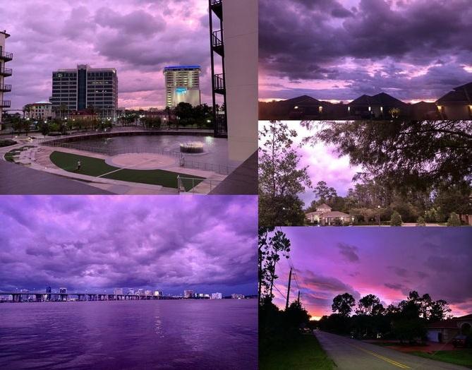 небо перед ураганом «Дориан»